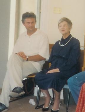 Zerka és Gábor Oxfordban 1994